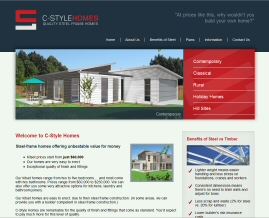 Kitset homes, steel frame kitset homes New Zealand, C-Style Homes
