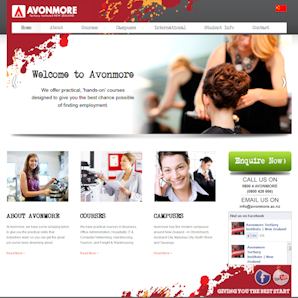 Avonmore - website design by Chris Mole Media