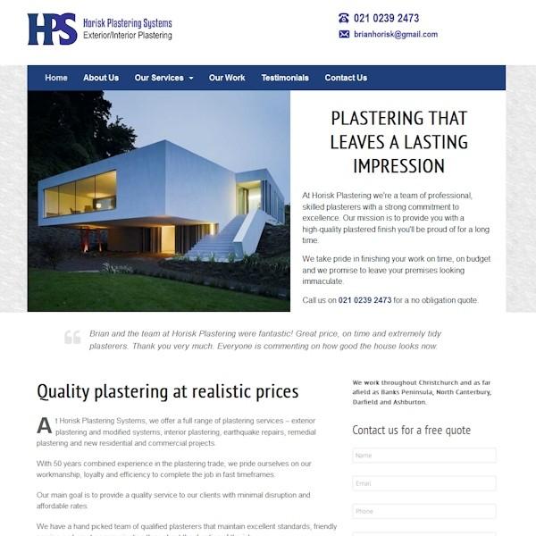 horisk-plastering